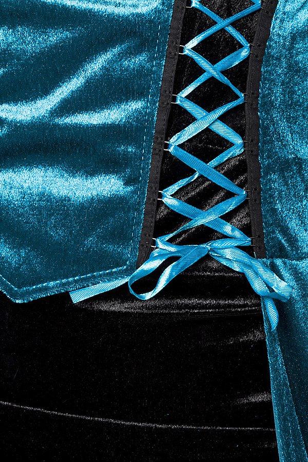 Hexenkostüm blau/schwarz