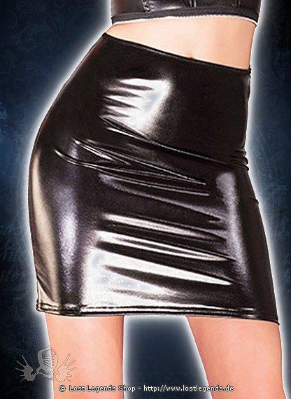 High Waisted Mini Skirt Wetlook