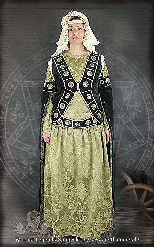 Hildwalda Mittelalter Kleid, Brokat