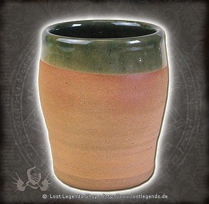 Historischer Weinbecher aus Ton, 0,2 Liter