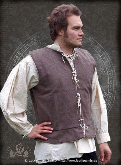 Hochmittelalterliche Weste Wolle