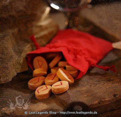 Holz Runen-Set