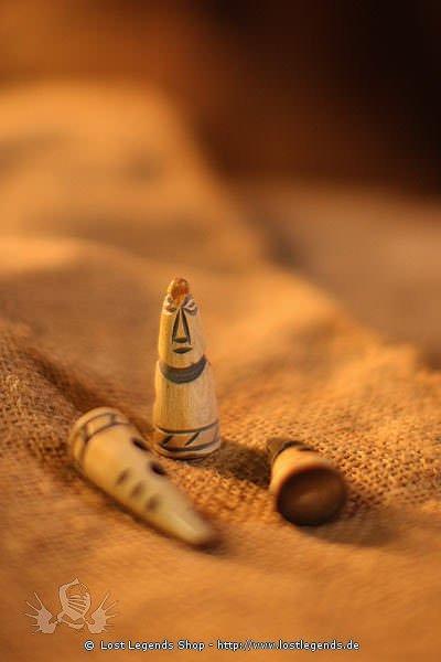 Hornknöpfe mit Motiv weiß, 40 mm