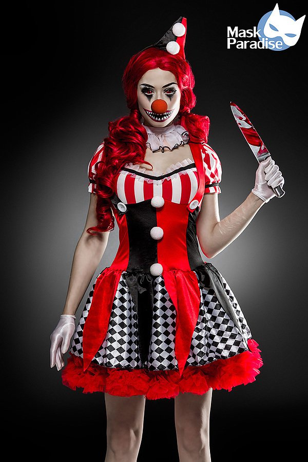 horror clown kost m clown kost me. Black Bedroom Furniture Sets. Home Design Ideas