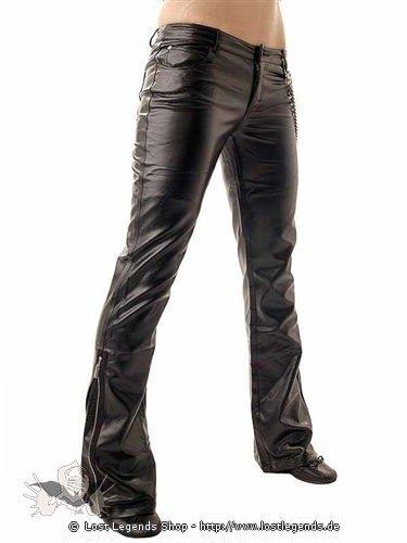 Hose im Latexlook mit Zippers
