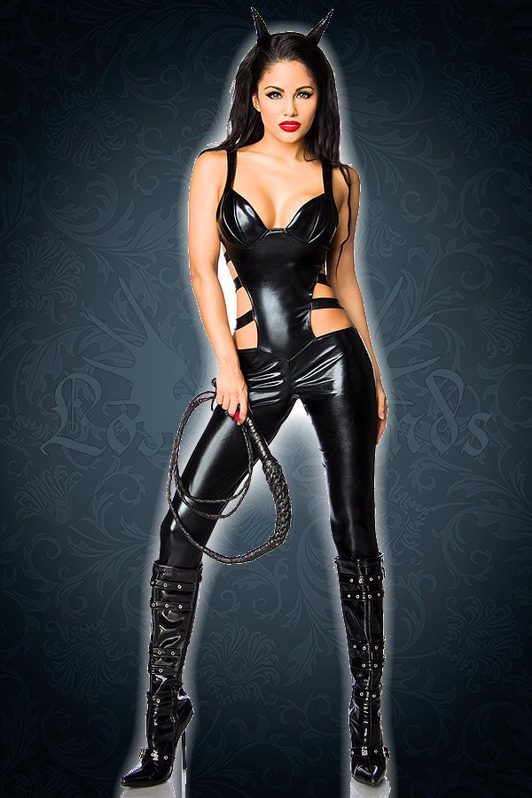 Hot-Devil-Kostüm schwarz