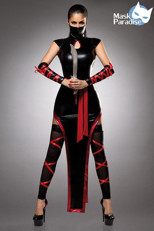 Hot Ninja Komplettset schwarz/rot