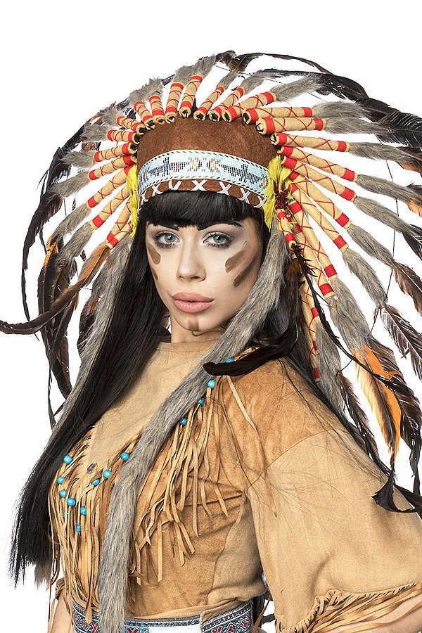 Indianerinkostüm: Native American beige