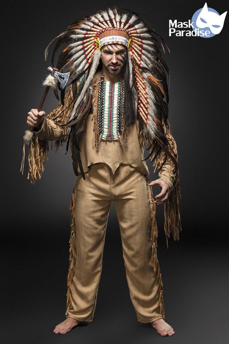 Indianerkostüm: Native American Herren beige