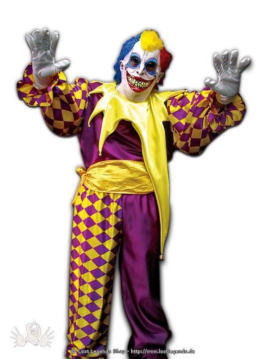 jack der joker kostum mit latex maske