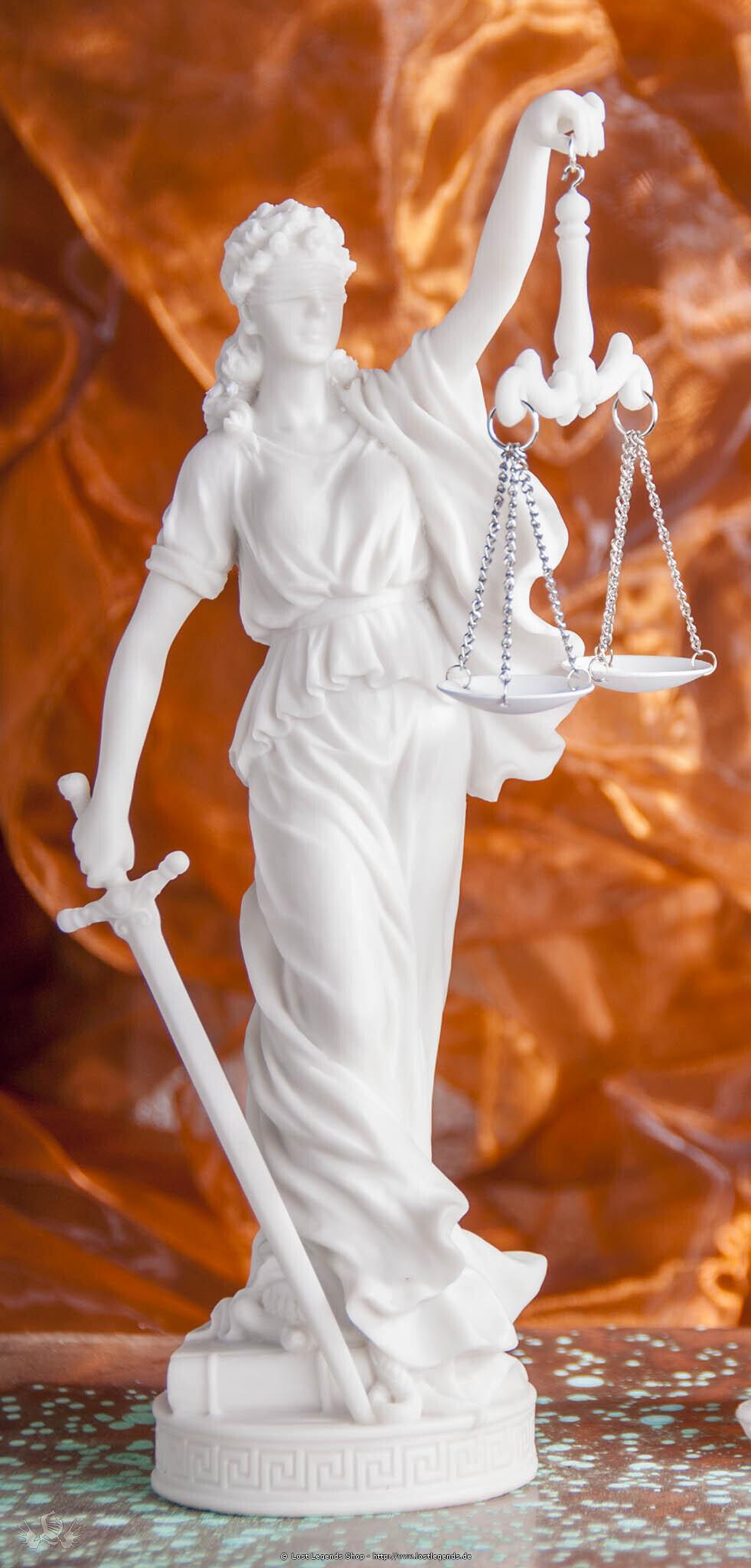 Justitia Kunstharz, 28 cm