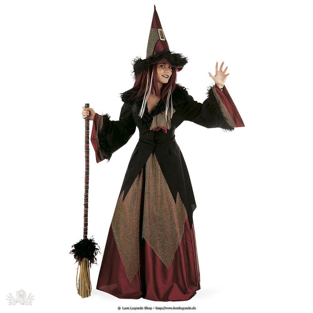 Karnevalskostüm Drachen Hexe inklusive Hut