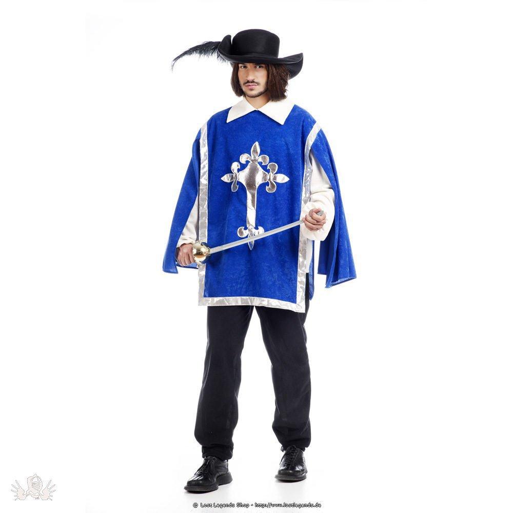 Karnevalskostüm Musketeer inklusive Hut