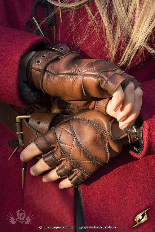 Kelten Handschuhe Braun