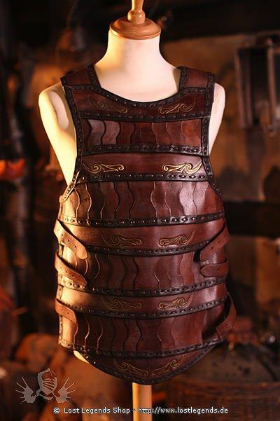 Keltische Lamellar-Lederrüstung Braun