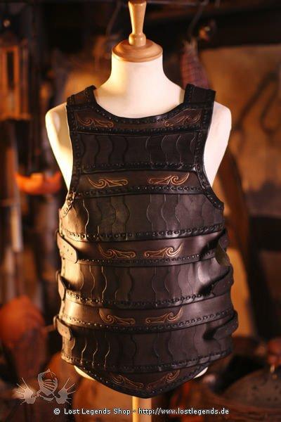 Keltische Lamellar-Lederrüstung Schwarz