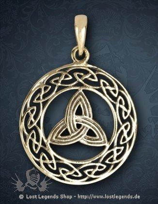 Keltische Triqueta Anhänger, Bronze