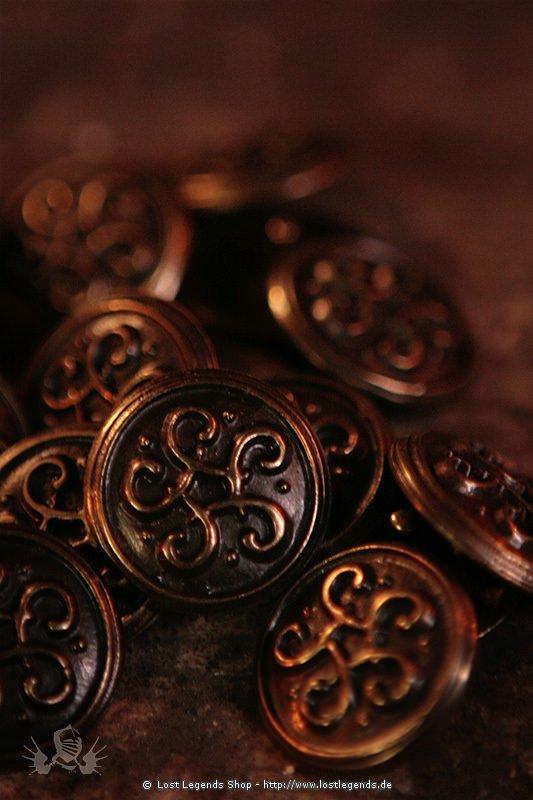 Keltischer Knoten Zierniete, Altmessing