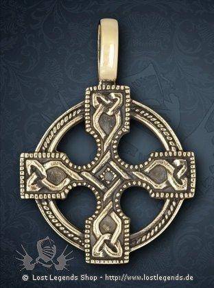Keltisches Kreuz Anhänger, Bronze