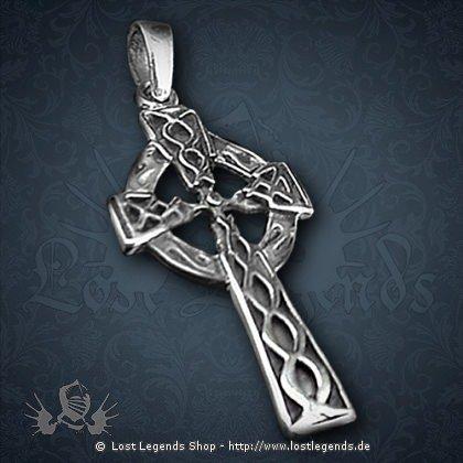 Keltisches Kreuz Anhänger, Silber