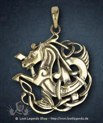 Keltisches Pferd Anhänger, Bronze
