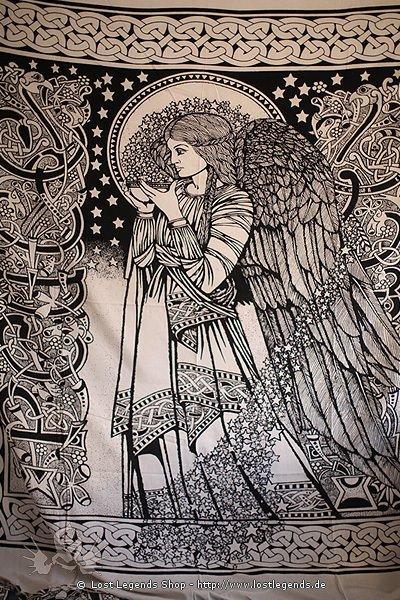 Keltisches Tuch mit Engelmotiv