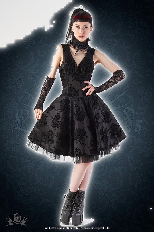 Kiara black flock circle dress