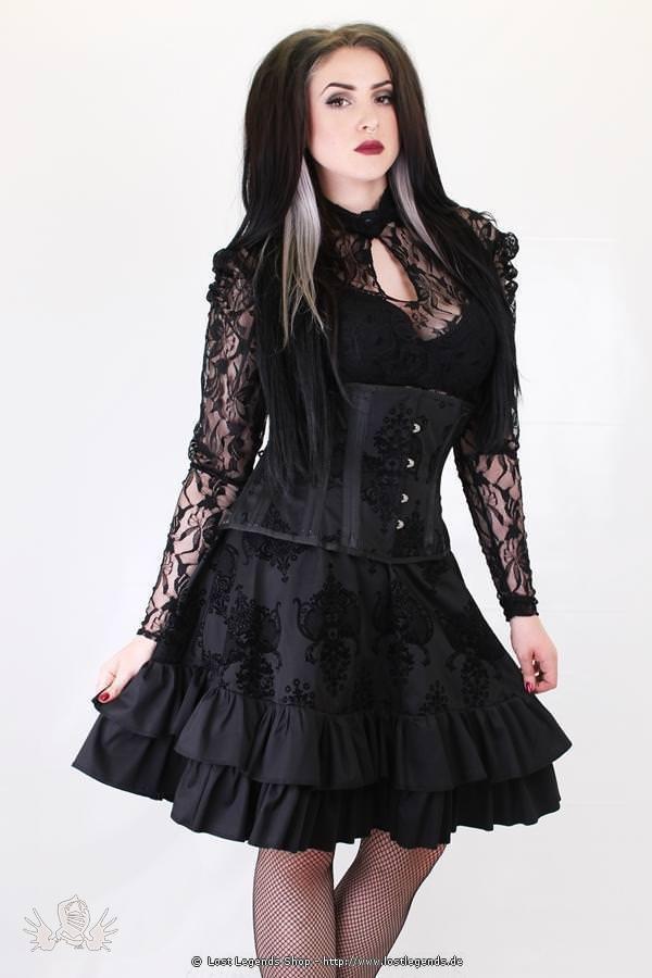 Kiara Double Layer Gothic Doll Skirt