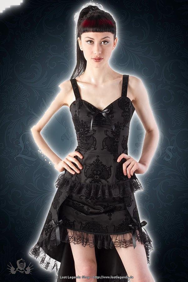 Kiara gothic flock bow top