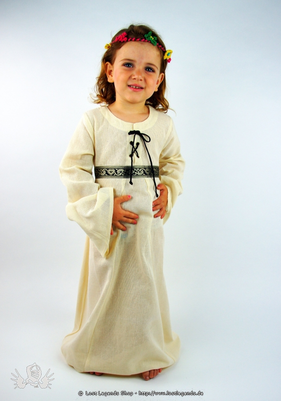 Kleines Burgfräulein Natur Mittelalter Kinderkleid