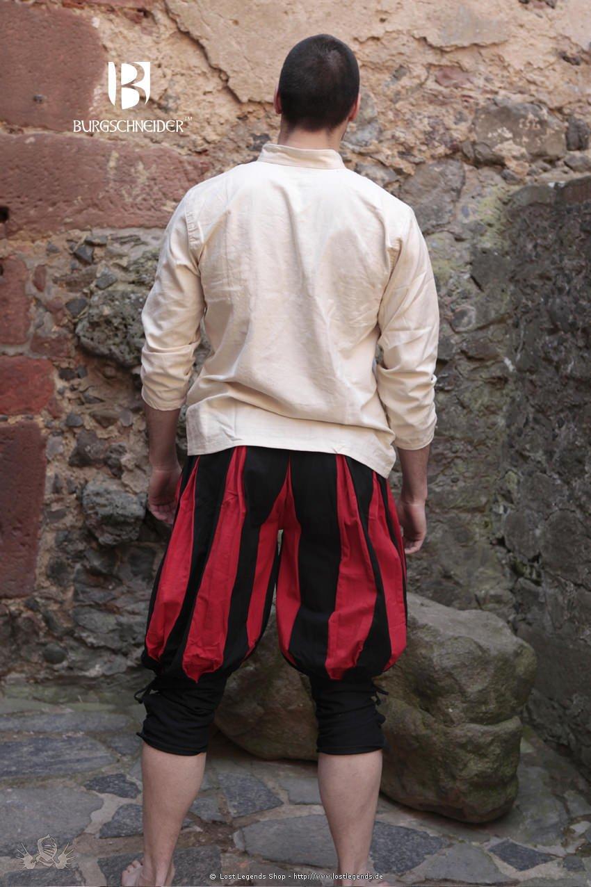 Kniebund-Landsknechthose Maximilian, schwarz-rot