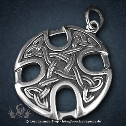 Knotenkreuz Anhänger, Silber