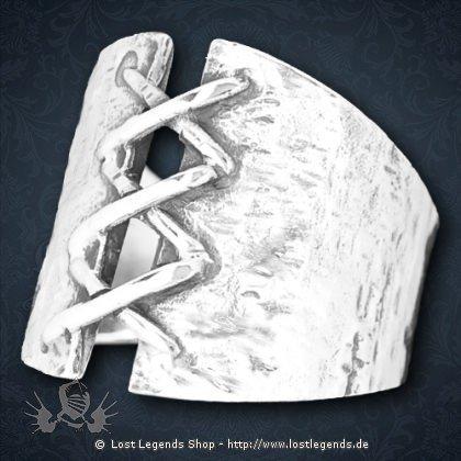 Korsett Ring Silber