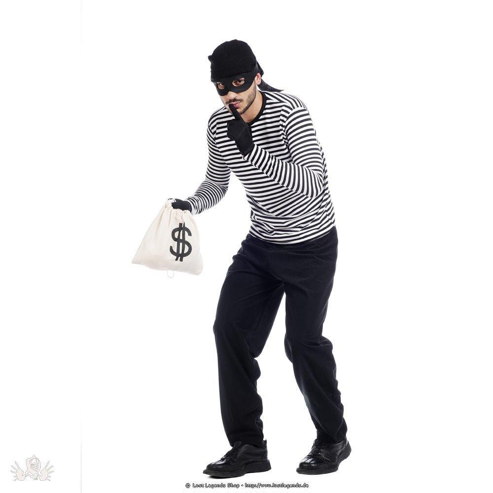 Kostüm Bankräuber inklusive Geldtasche