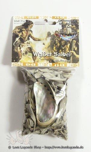 Kräuterset Weißer Salbei mit Muschel zum Räuchern