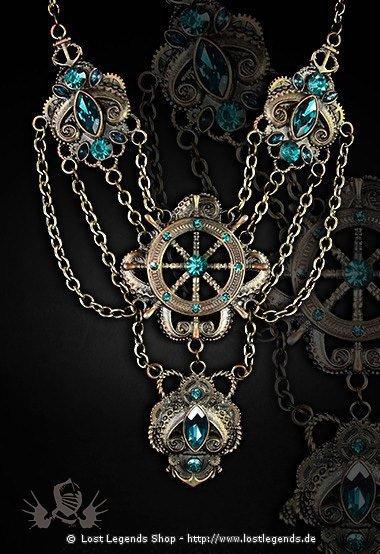 Krake Steampunk Halskette
