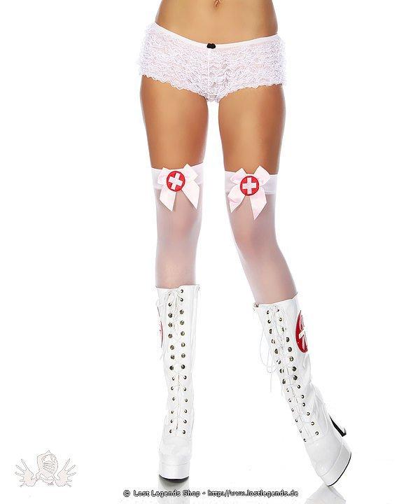 Krankenschwester-Stockings weiß