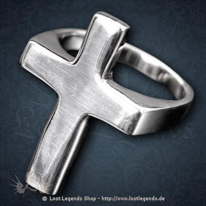Kreuz-Ring Silber