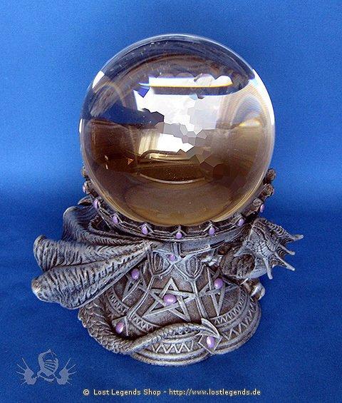 Kristallkugelhalter Drachen aus Kunstharz