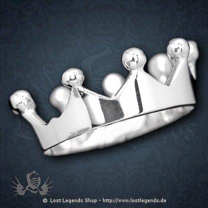 Kronenring Silber