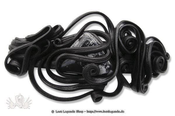 Kunstharz Clip-Haarspange mit Obsidian