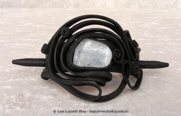 Kunstharz Haarspange mit Bergkristall