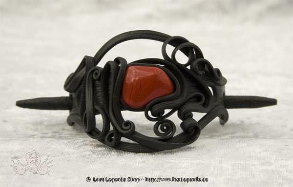 Kunstharz Haarspange mit rotem Jaspis