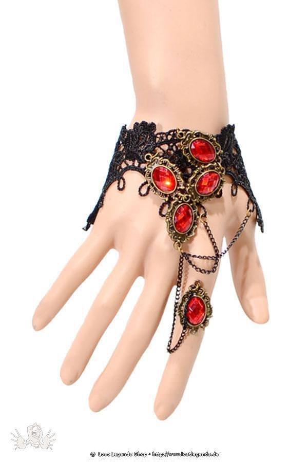 Lace Jewel Steampunk Handkette