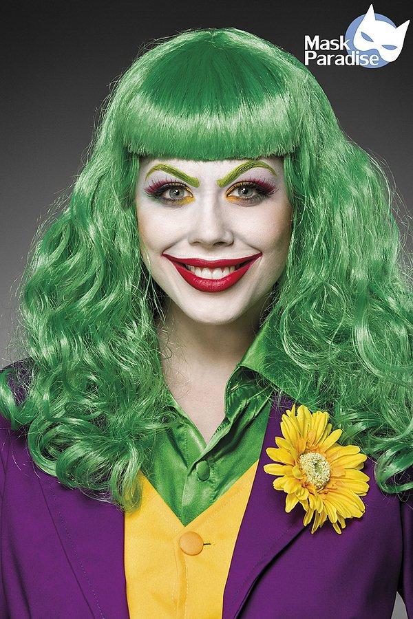 Lady Joker Perücke grün