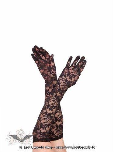 Lange Handschuhe mit Blumenmuster