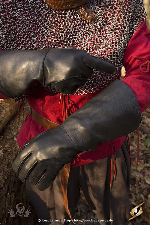 Lange Handschuhe Schwarz
