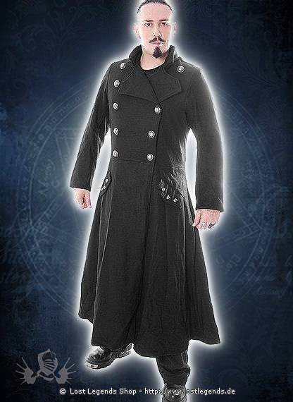 Long Officers  Goth Coat
