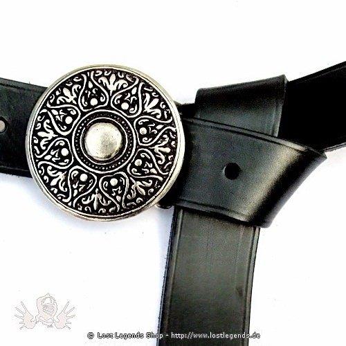 Larp-Gürtel mit Arabeske 165cm, Leder