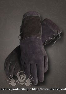 LARP Handschuhe Leder, schwarz